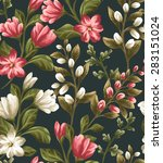 floral seamless pattern with... | Shutterstock .eps vector #283151024