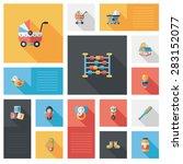 baby flat ui bakcground set | Shutterstock . vector #283152077