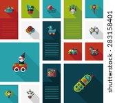 kid toys flat app ui background