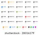 set of vector aqua web 2.0 site ... | Shutterstock .eps vector #28316179