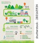 green ecology infographics... | Shutterstock .eps vector #283165934