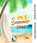 summer time background  ... | Shutterstock .eps vector #283169744