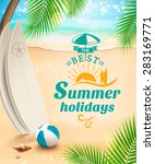 summer holidays background  ... | Shutterstock .eps vector #283169771