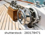 Close Up Of Winch On Yacht