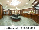 shiny interior of a hotel lobby ... | Shutterstock . vector #283185311