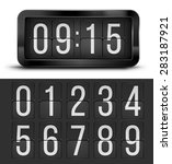 vector flip clock  black retro... | Shutterstock .eps vector #283187921