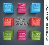 vector graphic abstract info... | Shutterstock .eps vector #283187924