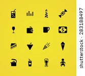 cafe icons universal set for... | Shutterstock .eps vector #283188497
