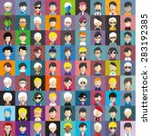collection of avatars18   81... | Shutterstock .eps vector #283192385