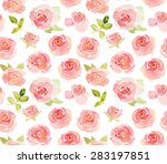 abstract pink roses flower... | Shutterstock . vector #283197851