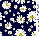 seamless pattern with big and... | Shutterstock .eps vector #283198601