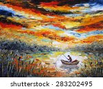 Fishing  Colorful Painting ...