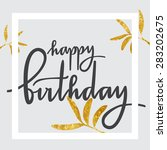 birthday greeting card | Shutterstock . vector #283202675