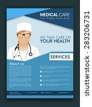 stylish medical care template ... | Shutterstock .eps vector #283206731