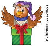 owl with gift theme image 1  ...   Shutterstock .eps vector #283208081
