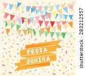 brazil june party | Shutterstock .eps vector #283212557