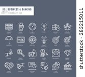 set of thin lines web icons for ... | Shutterstock .eps vector #283215011