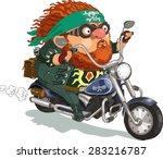 funny cartoon. vector... | Shutterstock .eps vector #283216787