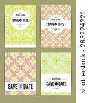 card set templates. abstract... | Shutterstock . vector #283224221