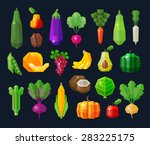 vegetables and fruits  fresh... | Shutterstock .eps vector #283225175