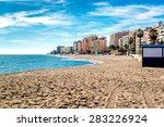 fuengirola beach. costa del sol.... | Shutterstock . vector #283226924