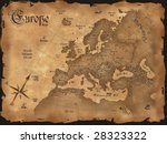 vintage europe map horizontal | Shutterstock . vector #28323322