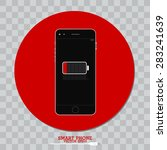 smart phone and battery symbol | Shutterstock .eps vector #283241639