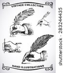 vintage hand drawn hands... | Shutterstock .eps vector #283244435