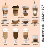 coffee icons set. buttons for... | Shutterstock . vector #283244807