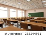 modern classroom 3d interior in ... | Shutterstock . vector #283244981