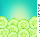 the sliced cucumber as lower... | Shutterstock . vector #283249631