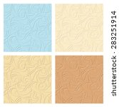 vector set of four abstract... | Shutterstock .eps vector #283251914