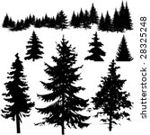 detailed vectoral pine tree... | Shutterstock .eps vector #28325248