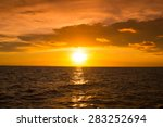 beautiful sunset over the sea ... | Shutterstock . vector #283252694