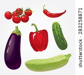 collection of isolated ripe... | Shutterstock .eps vector #283258871