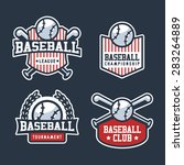 set of sport baseball badge... | Shutterstock .eps vector #283264889
