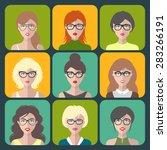 vector set of different women...