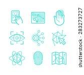 vector set of icons in trendy... | Shutterstock .eps vector #283273727