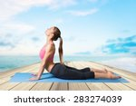 yoga  stretching  relaxation...   Shutterstock . vector #283274039