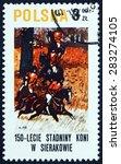 poland   circa 1980  a stamp... | Shutterstock . vector #283274105