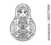 russian doll  matryoshka ... | Shutterstock .eps vector #283277009