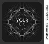 vector vintage label  logotype  ... | Shutterstock .eps vector #283283861