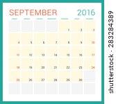 calendar 2016. vector flat... | Shutterstock .eps vector #283284389