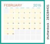 calendar 2016. vector flat... | Shutterstock .eps vector #283284431
