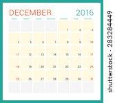calendar 2016. vector flat... | Shutterstock .eps vector #283284449