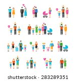family flat style icons.... | Shutterstock .eps vector #283289351