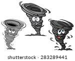 cartoon hurricane  tornado and... | Shutterstock .eps vector #283289441
