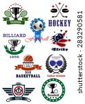 set of sport games icons and... | Shutterstock .eps vector #283290581