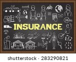 doodles about insurance on... | Shutterstock .eps vector #283290821