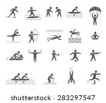 silhouettes figures of athletes ... | Shutterstock .eps vector #283297547